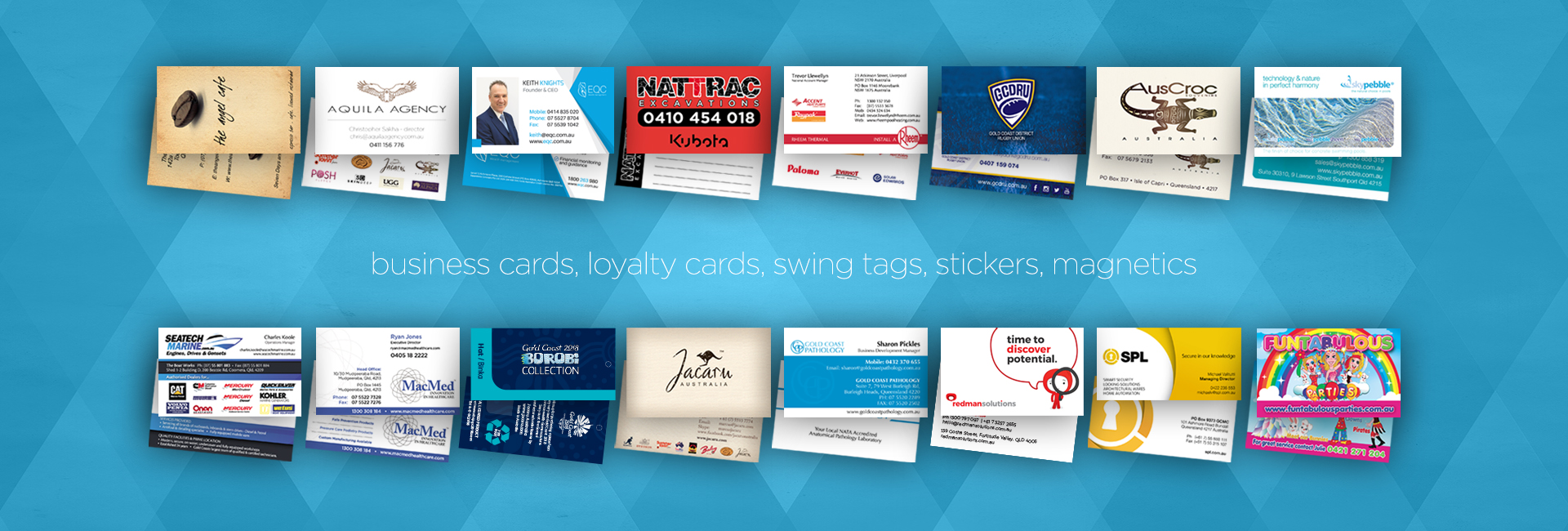 Business Cards and Swing Tags