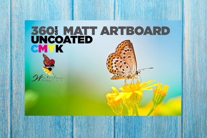 360 Matt Artboard Uncoated