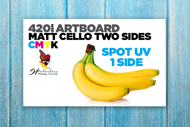420 Artboard Matt Two Sides + Spot UV 1 side